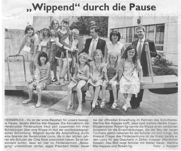 """Wippend"" durch die Pause"